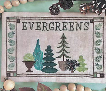 click here to view larger image of Fresh Picked Evergreens (chart)