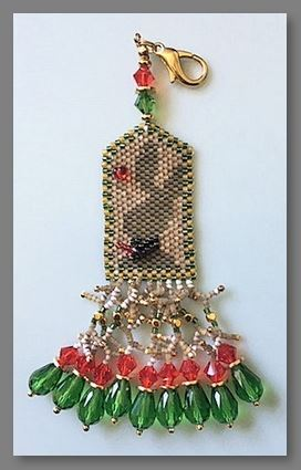 click here to view larger image of Christmas Hare Fob (bead kit)