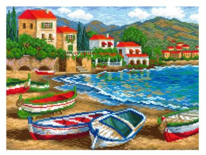 click here to view larger image of Azure Bay (counted cross stitch kit)