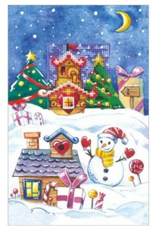 click here to view larger image of Cards - Gingerbread House (counted cross stitch kit)