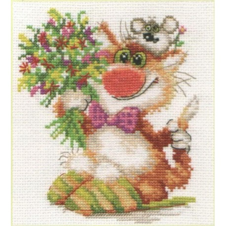 click here to view larger image of We Hasten to Congratulate ! (counted cross stitch kit)