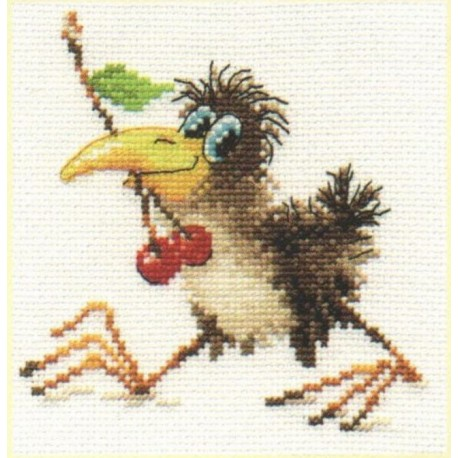 click here to view larger image of Baby Crow (counted cross stitch kit)