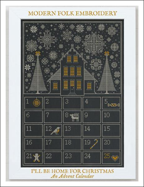 click here to view larger image of I'll Be Home For Christmas - An Advent Calendar (chart)