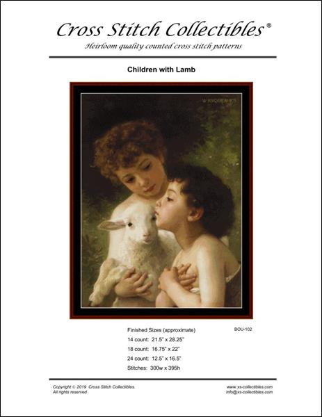 click here to view larger image of Children with Lamb (chart)