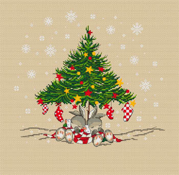 click here to view larger image of Christmas Bunnies Tree (chart)