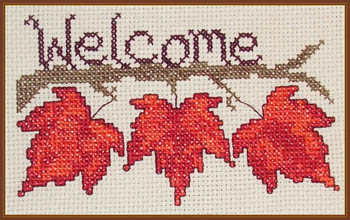 click here to view larger image of Fall Leaf Welcome (chart)