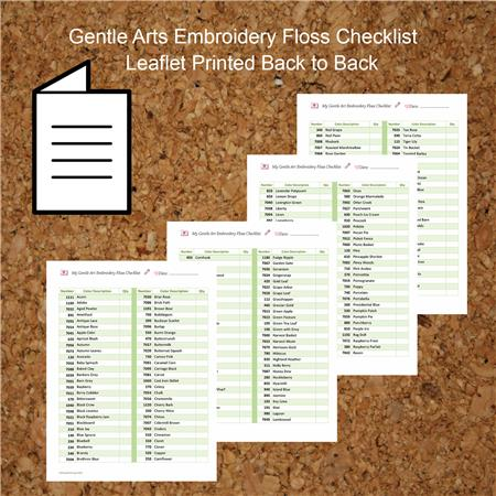 click here to view larger image of Embroidery Floss Checklist Gentle Arts (accessory)