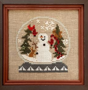click here to view larger image of We Built a Snowman Snow Globe (counted cross stitch kit)