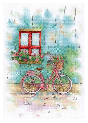 click here to view larger image of French Patio (counted cross stitch kit)
