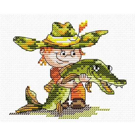 click here to view larger image of Catched the Fish (counted cross stitch kit)