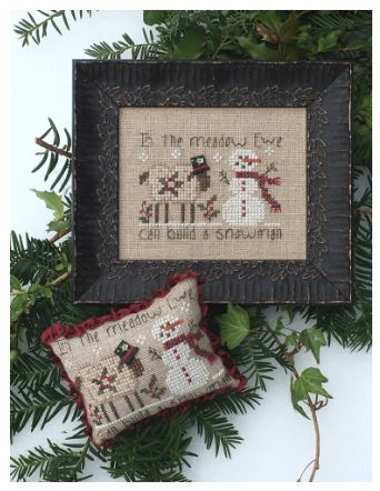 click here to view larger image of Ewe Can Build a Snowman (counted cross stitch kit)