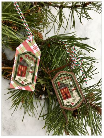 click here to view larger image of Merry House Tag (counted cross stitch kit)