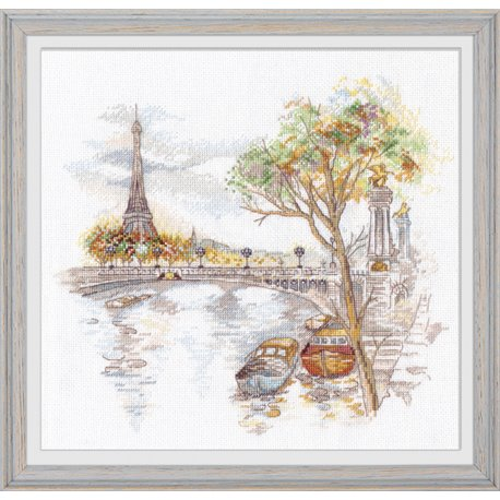 click here to view larger image of Autumn in Paris (counted cross stitch kit)