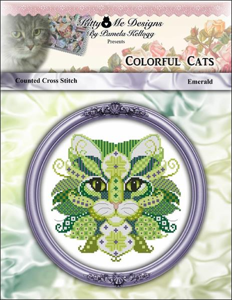 click here to view larger image of Colorful Cats - Emerald (chart)