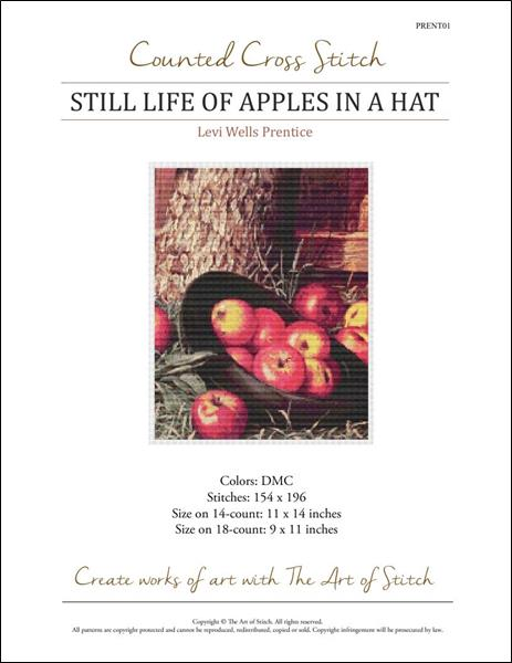 click here to view larger image of Still Life of Apples in a Hat (chart)