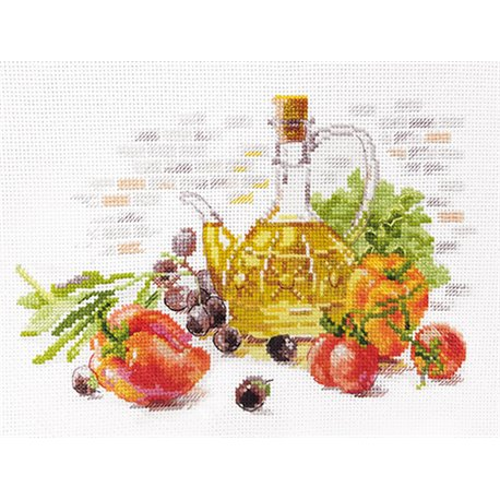 click here to view larger image of Olive Still Life (counted cross stitch kit)