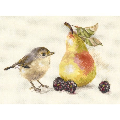 click here to view larger image of Bird and a Pear (counted cross stitch kit)