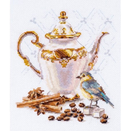 click here to view larger image of Coffee Connoisseur (counted cross stitch kit)