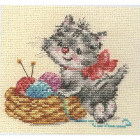 click here to view larger image of Baby Needlewoman (counted cross stitch kit)
