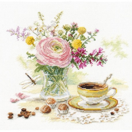 click here to view larger image of Morning Coffee (counted cross stitch kit)