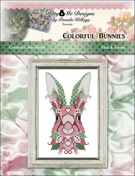 click here to view larger image of Colorful Bunnies Pink and Green (chart)