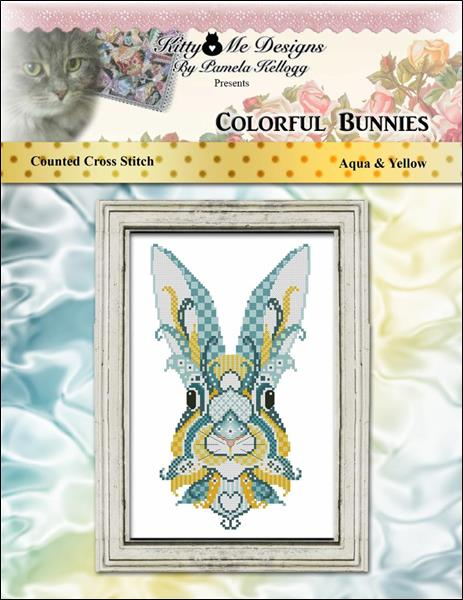 click here to view larger image of Colorful Bunnies Aqua and Yellow (chart)
