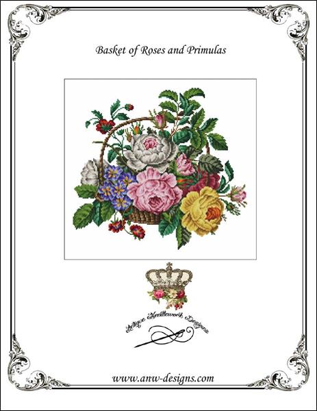 click here to view larger image of Basket of Roses and Primulas (chart)