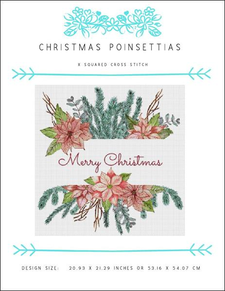 click here to view larger image of Christmas Poinsettias (chart)