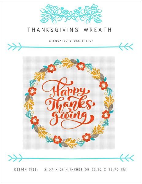 click here to view larger image of Thanksgiving Wreath (chart)