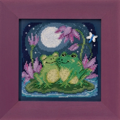 click here to view larger image of Courtin' Froggies (2020) (counted cross stitch kit)
