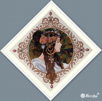 click here to view larger image of Brunette (counted cross stitch kit)