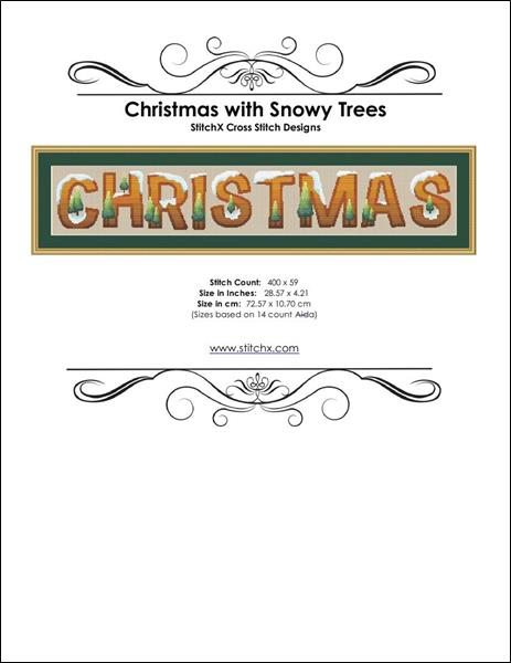 click here to view larger image of Christmas with Snowy Trees  (chart)