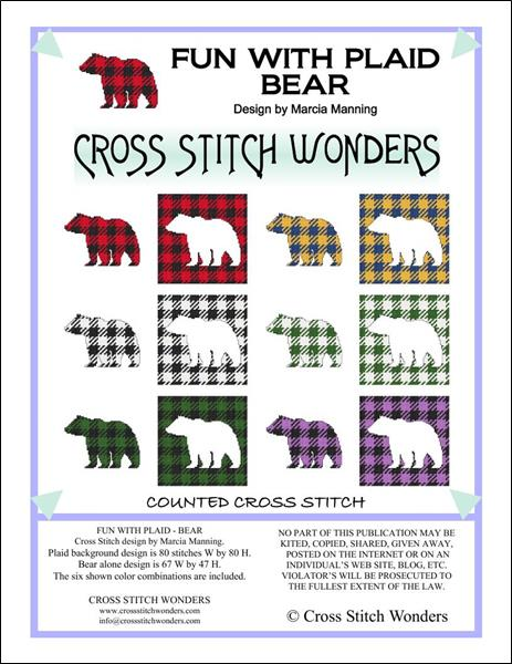 click here to view larger image of Fun With Plaid - Bear (chart)