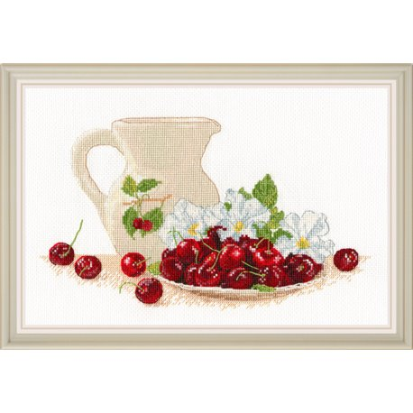 click here to view larger image of Cherry Morning (counted cross stitch kit)