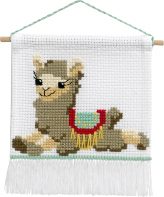 click here to view larger image of My First Kit - Llama (counted cross stitch kit)