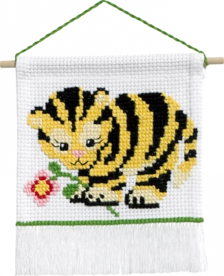 click here to view larger image of My First Kit - Tiger (counted cross stitch kit)