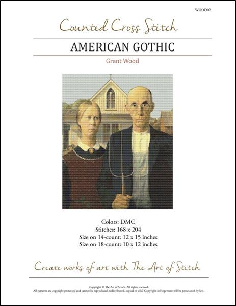 click here to view larger image of American Gothic (chart)