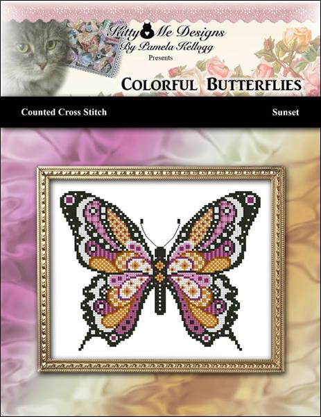 click here to view larger image of Colorful Butterflies - Sunset (chart)