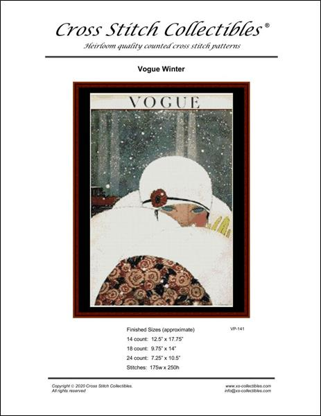 click here to view larger image of Vogue Winter - Vintage Poster (chart)