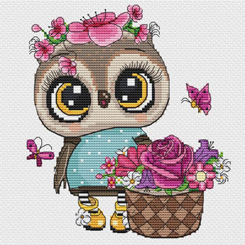 click here to view larger image of Owl With Flowers (chart)