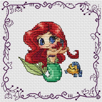 click here to view larger image of Baby Princess Ariel (chart)