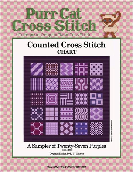 click here to view larger image of Sampler of Twenty-Seven Purples, A (chart)