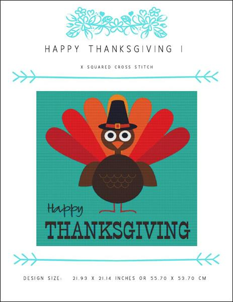 click here to view larger image of Happy Thanksgiving I (chart)