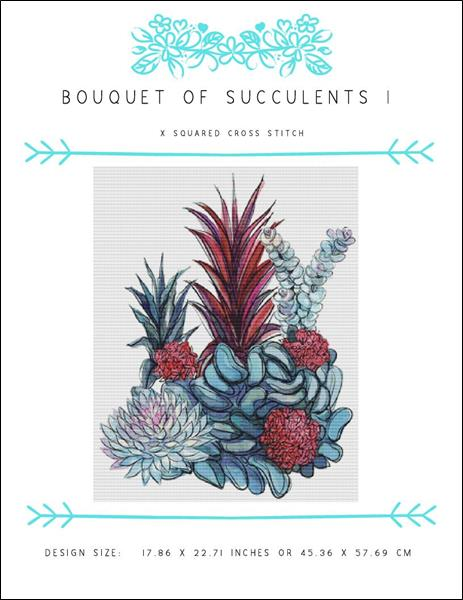 click here to view larger image of Bouquet Of Succulents I (chart)