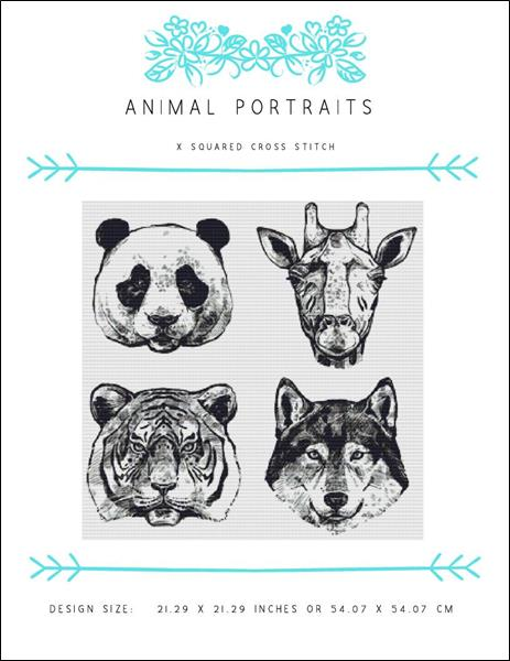 click here to view larger image of Animal Portraits (chart)