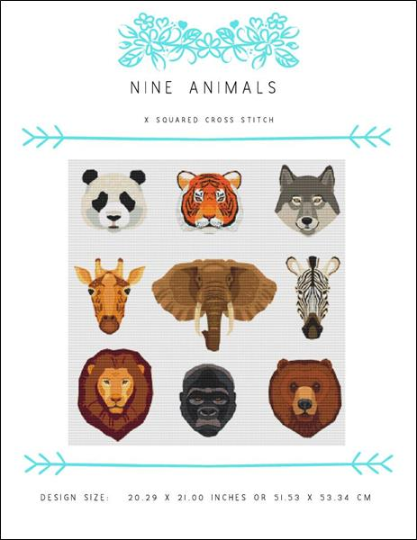 click here to view larger image of Nine Animals (chart)