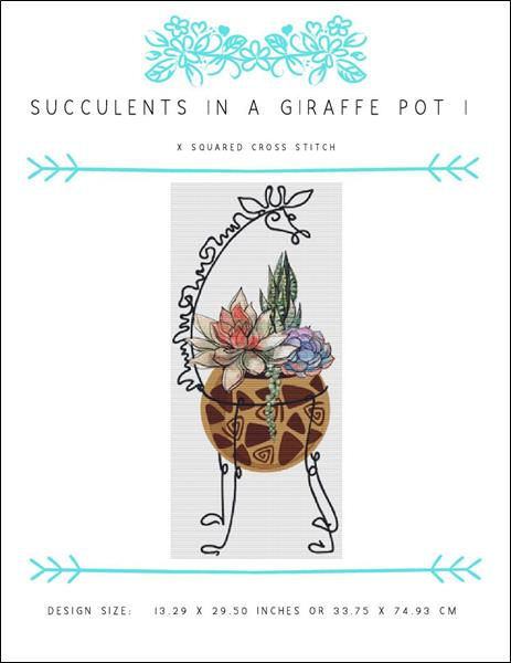 click here to view larger image of Succulents in a Giraffe Pot I (chart)