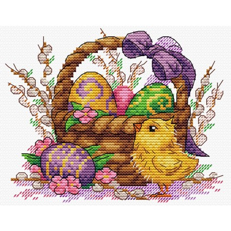 click here to view larger image of Holiday Basket (counted cross stitch kit)