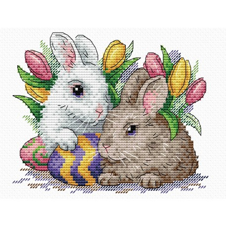 click here to view larger image of Fluffy Friends (counted cross stitch kit)