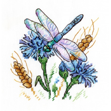 click here to view larger image of Cornflower Aroma (counted cross stitch kit)